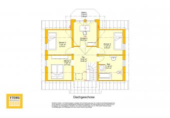 Grundriss Beispielhaus 19.0 DG