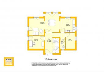 Grundriss Beispielhaus 19.0 EG