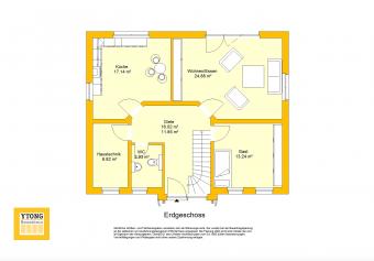 Grundriss Beispielhaus 28.0 - Friesenhaus EG