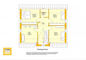 Grundriss Beispielhaus 28.0 - Friesenhaus OG