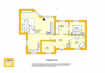 Grundriss Bungalow WA 83 Erdgeschoss