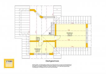 Grundriss Bungalow WA 83 Obergeschoss